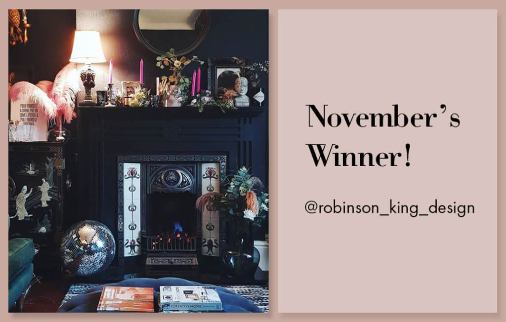 lifestyle image of @robinson_king_design cosy home
