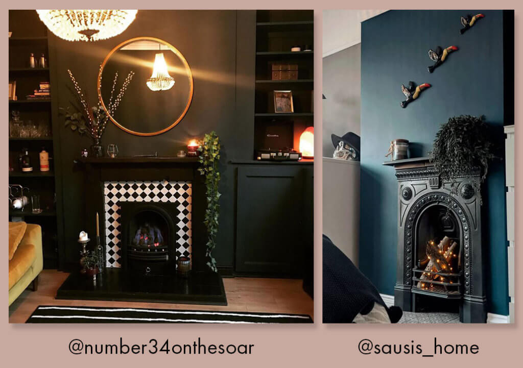 lifestyle image of competition runners up cosy fireplaces.