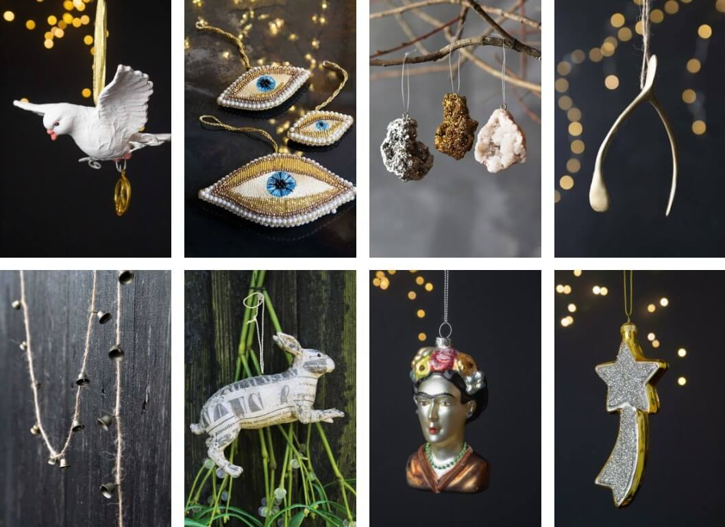dove decorations crystals and decorations in silver and gold