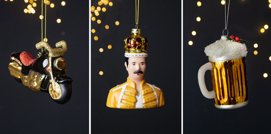 quirky baubles as stocking filler gift ideas for him