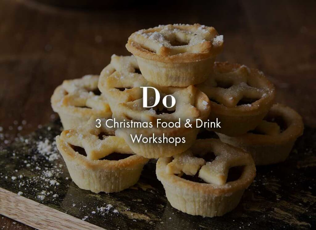 lifestyle image of 7 mince pies stacked on top of each other.