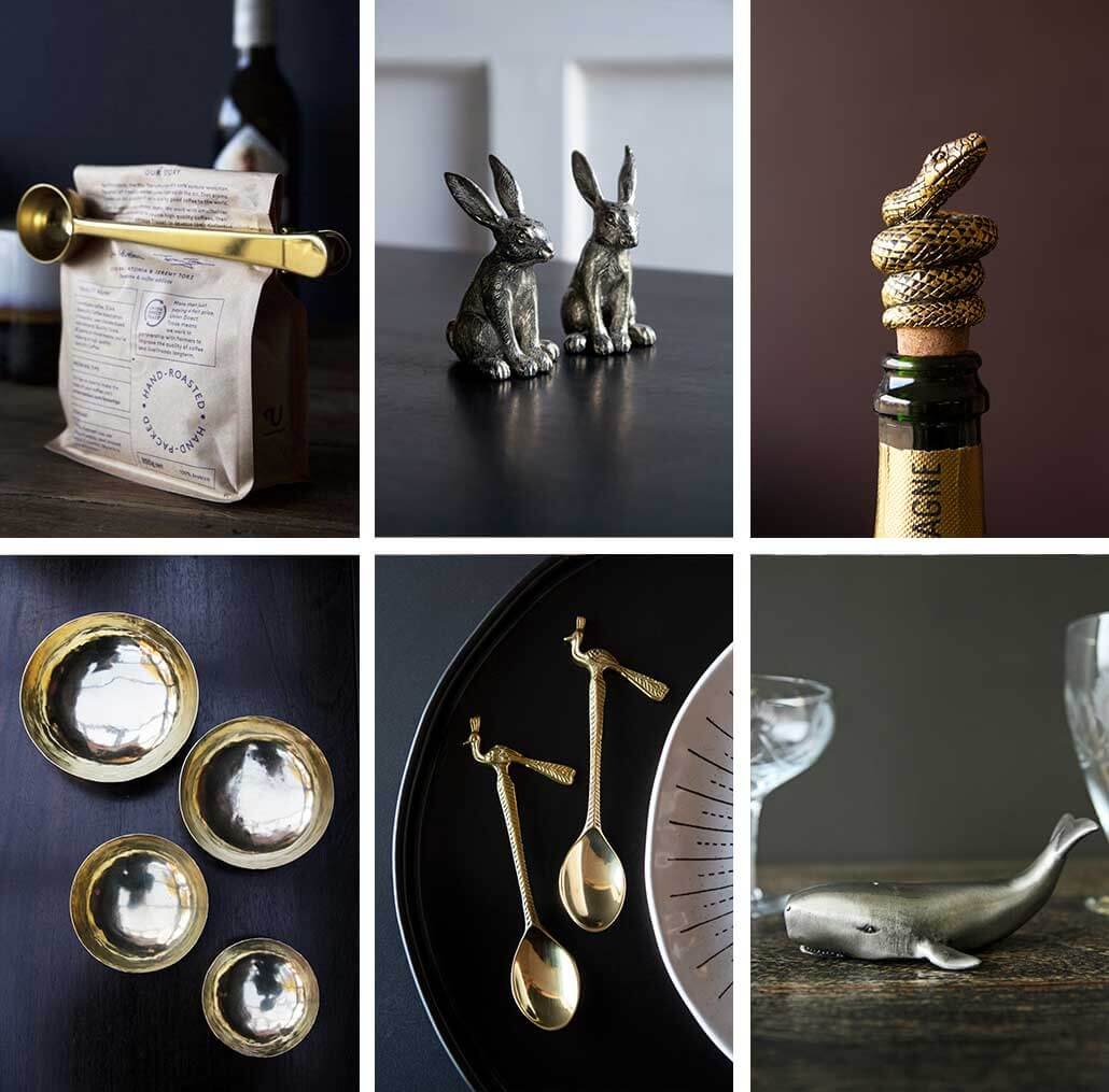 lifestyle grid image of special occasion kitchen gifts for Christmas