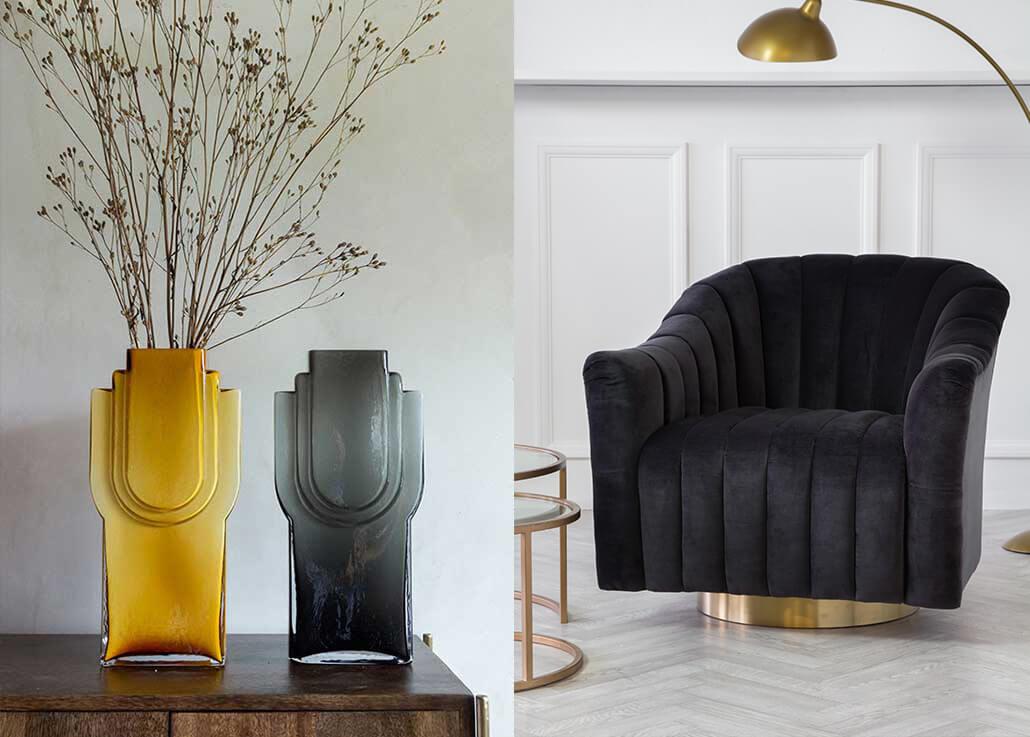 1920's art deco Grown up glamour interior design trend