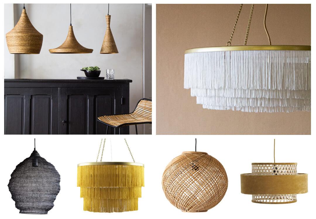 lifestyle grid image of kitchen lighting ideas