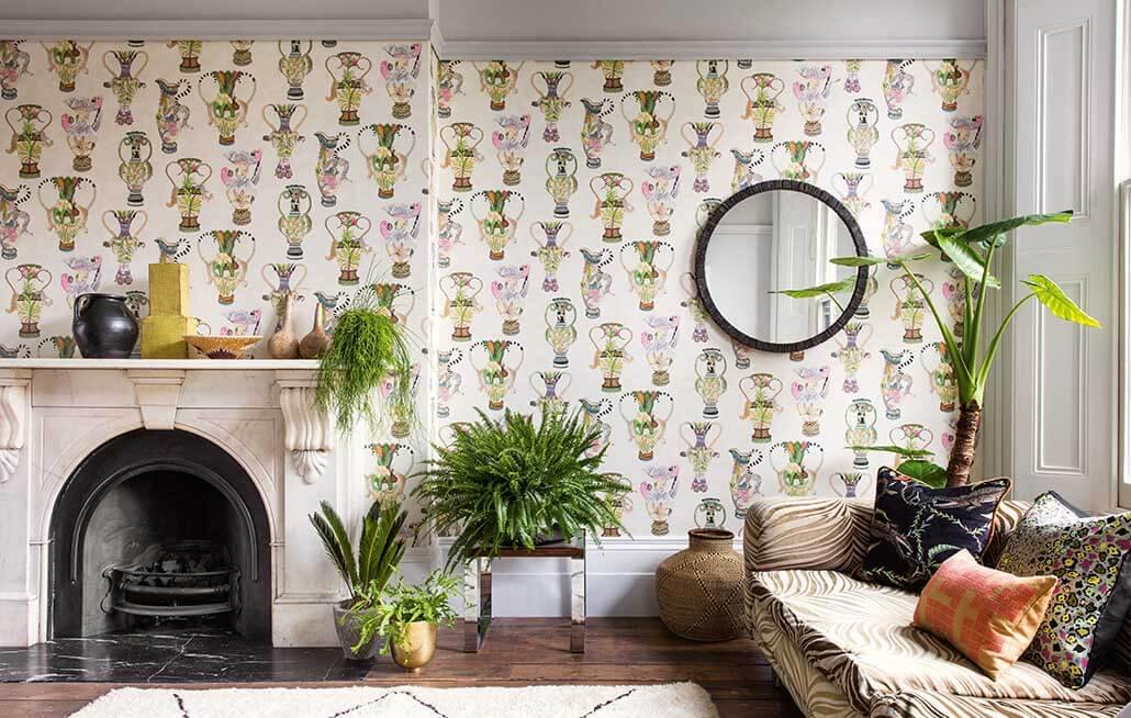 How to remove wallpaper living room image