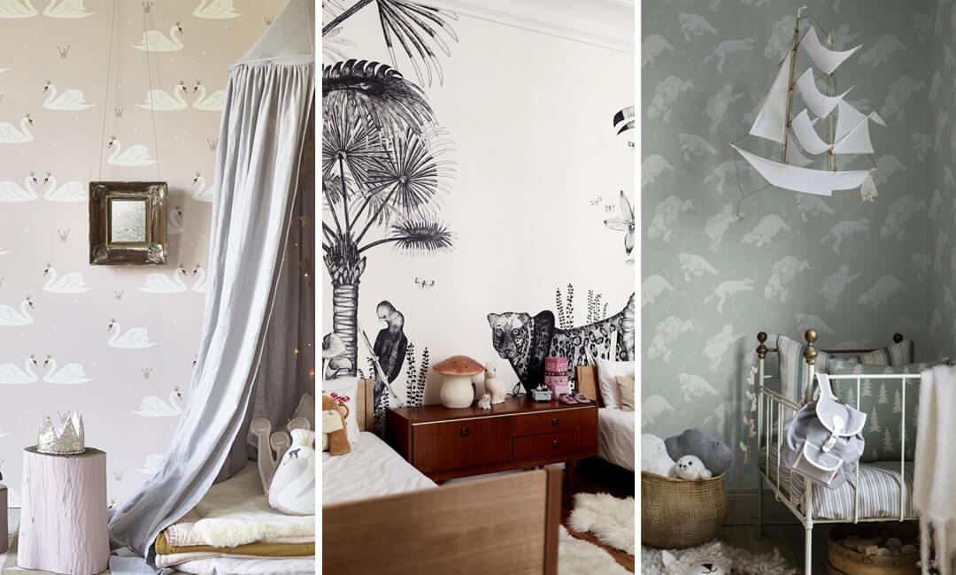lifestyle grid image of kids bedrooms